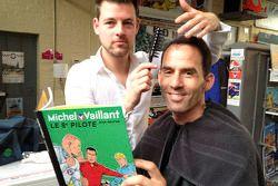 Club des V, in Brussel met Alain Menu als stripheld Michel Vaillant