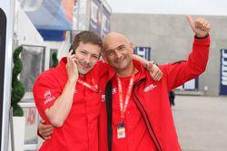 Alexey Dudukalo, SEAT LeonWTCC, Lukoil Racing Team en Gabriele Tarquini, SEAT LeonWTCC, Lukoil Racin