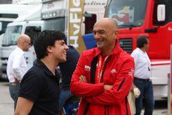 Victor Guerin, AutoGP rijder en Gabriele Tarquini, SEAT LeonWTCC, Lukoil Racing Team