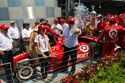 Victory circle: Chip Ganassi celebrates