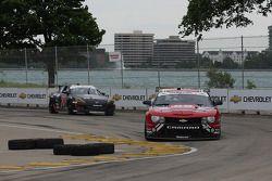 #88 Autohaus Motorsports Camaro GT.R: Paul Edwards, Jordan Taylor #70 SpeedSource Mazda RX-8: Sylvai