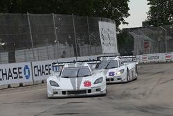 #9 Action Express Racing Corvette DP: Joao Barbosa, Darren Law, J.C. France #5 Action Express Racing Corvette DP: David Donohue, Terry Borcheller