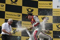 Podium, Arno Zensen, Audi Sport Team Rosberg en Edoardo Mortara, Audi Sport Team Rosberg Audi A5 DTM
