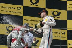 Podium, Martin Tomczyk, BMW Team RMG BMW M3 DTM and Edoardo Mortara, Audi Sport Team Rosberg Audi A5