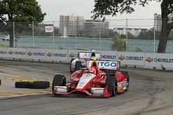 E.J.Viso, KV Racing Technology Chevrolet y Mike Conway, AJ Foyt Enterprises Honda