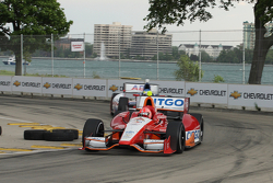 E.J.Viso, KV Racing Technology Chevrolet and Mike Conway, AJ Foyt Enterprises Honda
