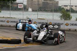 Dario Franchitti, de Target Chip Ganassi Honda y Simon Pagenaud, de Schmidt-Hamilton Motorsports