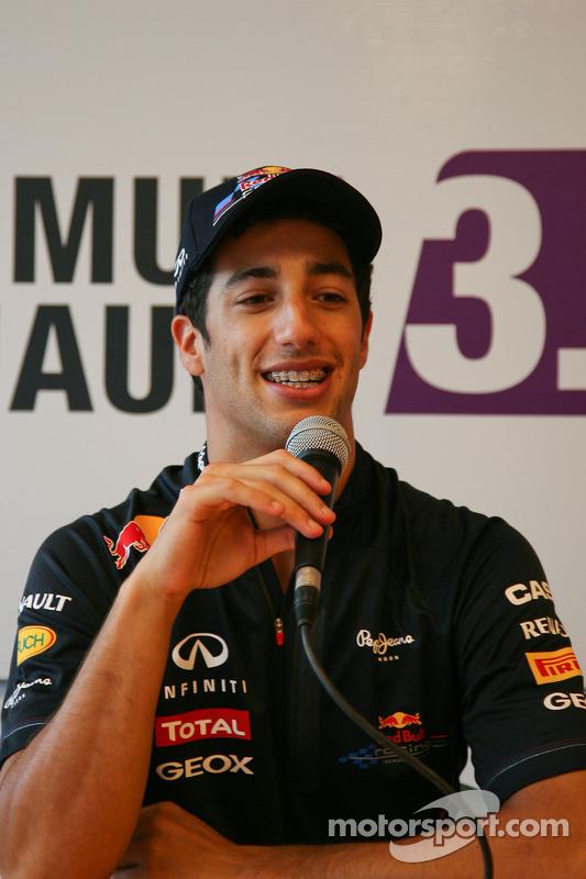 Daniel Ricciardo, in persconferentie