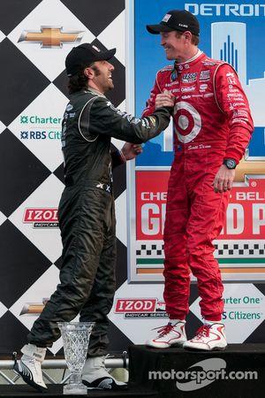 Race winner Scott Dixon, second place Dario Franchitti