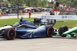 Alex Tagliani, de Bryan Herta Autosport w/Curb Agajanian Honda y Simona De Silvestro, de Lotus-HVM R