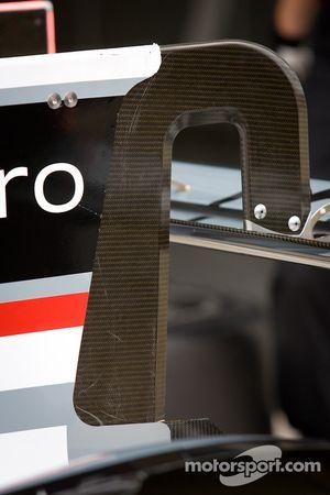 #2 Audi Sport Team Joest Audi R18 E-Tron Quattro achtervleugel