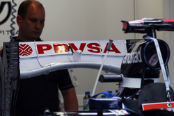 Williams FW34 achtervleugel
