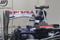 Pastor Maldonado, Williams F1 Team with a new rear wing