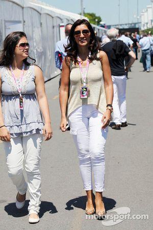 Fabiana Flosi, fiance of Bernie Ecclestone, CEO Formula One Group (FOM)