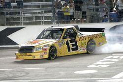 Race winner Johnny Sauter