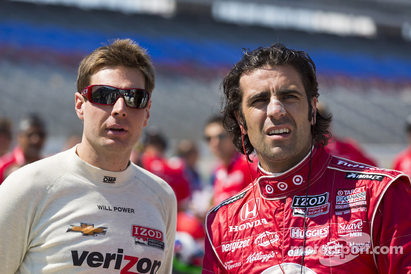 Will Power, Team Penske Chevrolet en Dario Franchitti, Target Chip Ganassi Honda