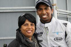 Duvashen Padayachee and his mother
