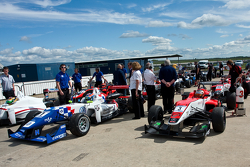 F3 cars gather in the assembly area