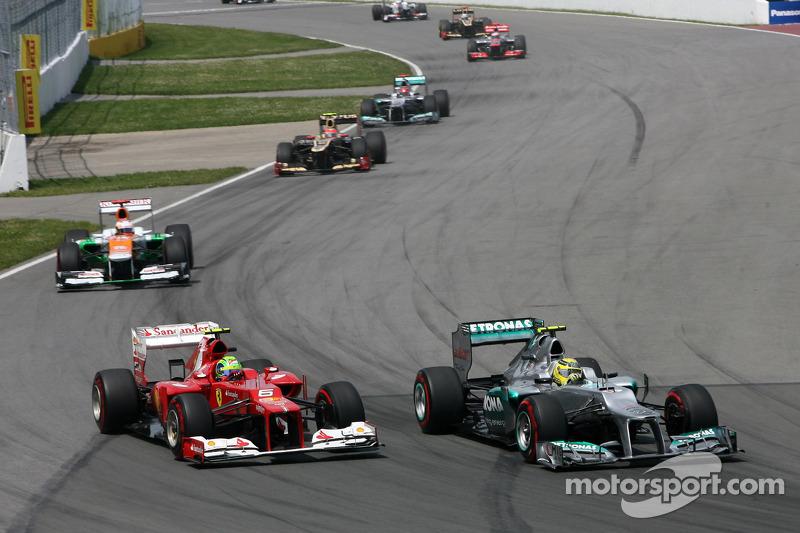 Felipe Massa, Scuderia Ferrari en Nico Rosberg, Mercedes GP