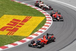 Timo Glock, Marussia F1 Team voor Charles Pic, Marussia F1 Team en Narain Karthikeyan, HRT Formula O