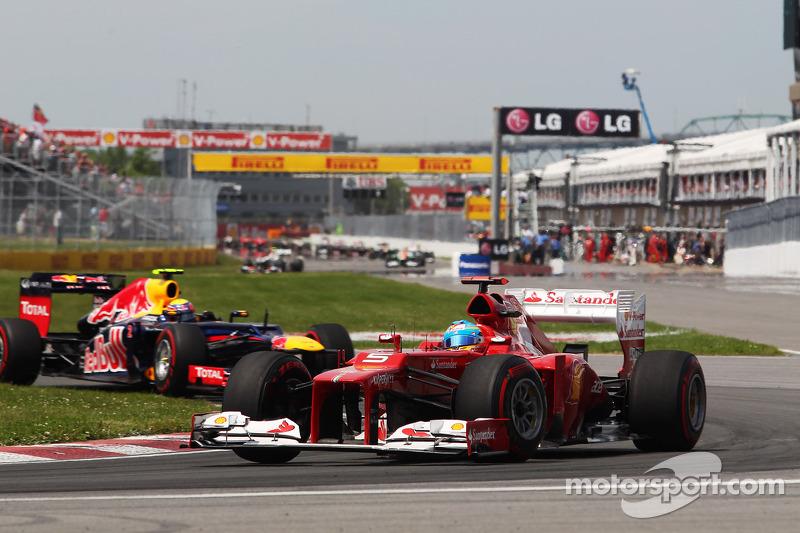 Fernando Alonso, Scuderia Ferrari voor Mark Webber, Red Bull Racing