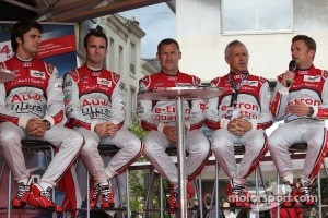 Marco Bonanomi, Romain Dumas, Tom Kristensen, Rinaldo Capello and Allan McNish
