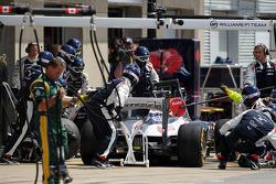Bruno Senna, Williams makes a pit stop