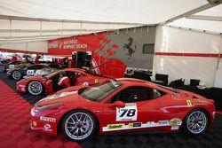 Al Hegyi Ferrari of San Diego 458CS, Bret Lawrence Ferrari of San Diego, Bob Callahan Ferrari of Sa