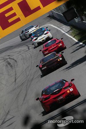 Chris Ruud Ferrari of Beverly Hills 458TP, Bob Callahan Ferrari of San Diego, Al Hegyi Ferrari of Sa