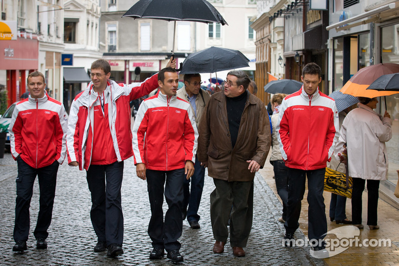 Handafdruk ceremonie: Marcel Fässler, Benoit Tréluyer en Andre Lotterer
