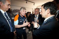 Oak Racing teambaas Jacques Nicolet met ACO President Pierre Fillon