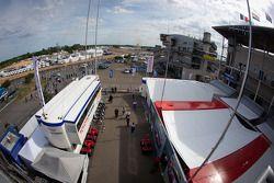 Paddock en Le Mans