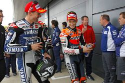Ben Spies, Yamaha Factory Racing y Casey Stoner, Repsol Honda Team