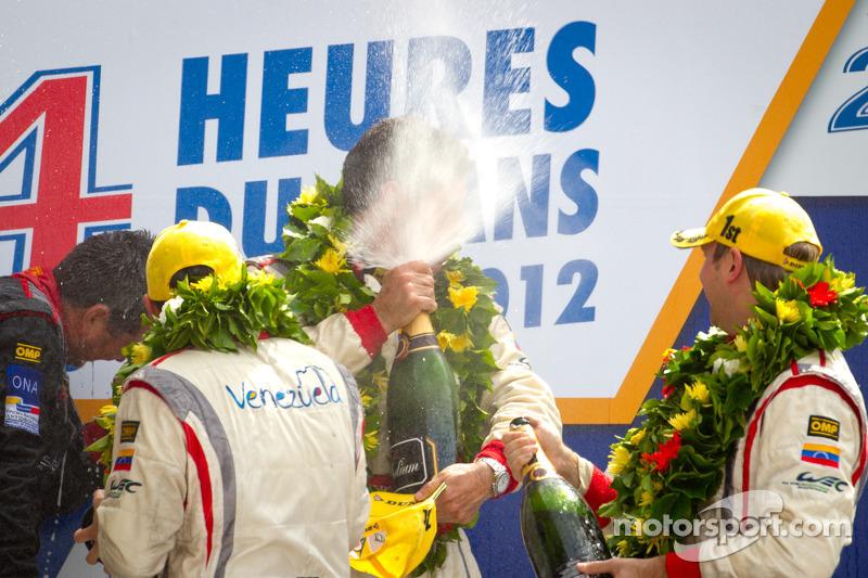 LMP2 podium: class winners Enzo Potolicchio, Ryan Dalziel, Tom Kimber-Smith