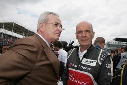 Dr. Martin Winterkorn, Volkswagen AG en Dr. Wolfgang Ullrich, Audi's Head of Motorsport
