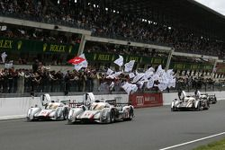 #1 Audi Sport Team Joest Audi R18 E-Tron Quattro: Marcel Fässler, Andre Lotterer, Benoit Tréluyer ta