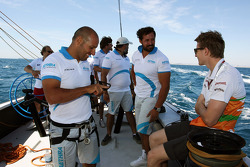 Nico Hulkenberg, Sahara Force India F1 on the Aethra America's Cup Boat