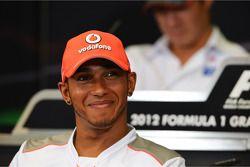 Lewis Hamilton, McLaren in the FIA Press Conference