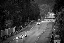 #4 Audi Sport North America Audi R18 Ultra: Oliver Jarvis, Marco Bonanomi, Mike Rockenfeller, #3 Aud