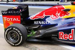 Pintura flow-vis en el Red Bull Racing de Sebastian Vettel de Red Bull Racing