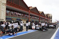 Sergio Pérez, Sauber y Kamui Kobayashi, Sauber en pits