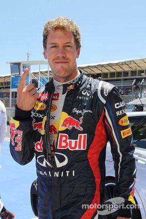 pole postion for Sebastian Vettel, Red Bull Racing