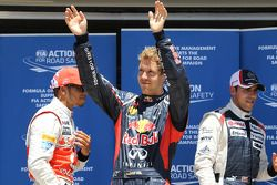 pole postion for Sebastian Vettel, Red Bull Racing with Lewis Hamilton, McLaren Mercedes in 2nd plac