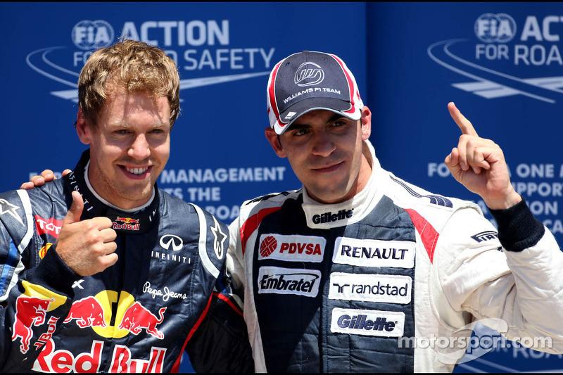 Sebastian Vettel, Red Bull Racing ve Pastor Maldonado, Williams F1 Team