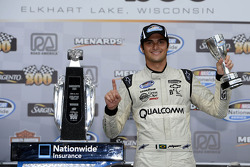 Victory lane: race winner Nelson Piquet Jr. celebrates