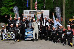 Victory lane: race winner Nelson Piquet Jr. celebrates