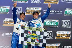 Victory lane: Scott Pruett and Memo Rojas celebrate