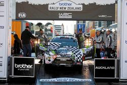 Podium: Ken Block and Alex Gelsomino, Ford Fiesta RS WRC