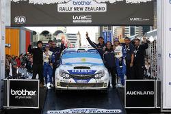 PWRC Podium: Marco Ligato and Ruben Garcia, Subaru Impreza WRX Sti