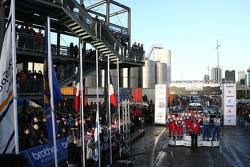 Podium: winners Sébastien Loeb and Daniel Elena, Citroën DS3 WRC, Citroën Total World Rally Team, se